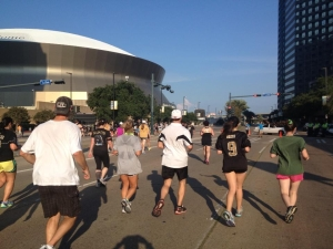 Almost to the Mercedes-Benz Superdome where the Finish Line was waitting for us!!!!!